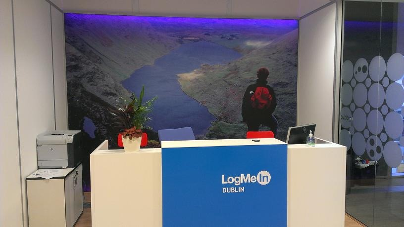 Frameless Glass and Desk System for LogMeIn Dublin