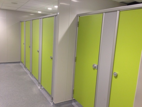 Citi Bank Toilet Cubicles and Locker Systems